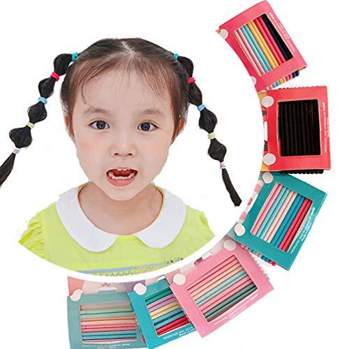 OuJyO ヘアゴム子ども ベビー 髪ゴム ヘアアクセサリーキッズ小学生 幼稚園 カラフル60本セット 髪飾りりリボン女の子 髪ども