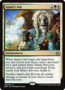 Magic The Gathering Ajani's Aid Sostegno di Ajani - Aether Revolt