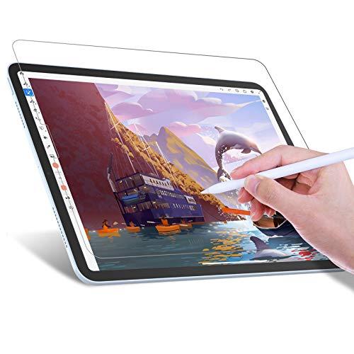 JETech Schreiben Sie wie Papier Bildschirmschutzfolie Kompatibel mit iPad Air 4 10,9 Zoll, iPad Pro 11 Zoll, Blendfreiem, Matte PET Papierfilm zum Zeichnen