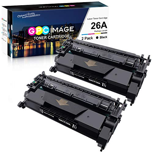 GPC Image Compatible Toner Cartridge Replacement for HP 26A CF226A 26X CF226X to use with HP Laserjet Pro M402n M402dn M402dw M402 Laserjet Pro MFP M426fdw M426fdn M426DW (Black,2 Pack)