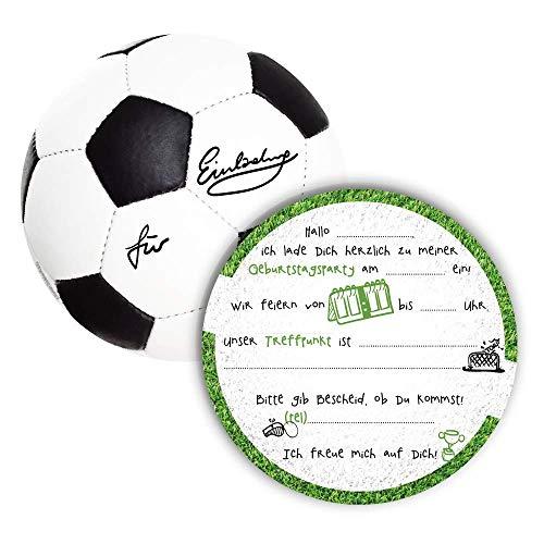 12 Einladungskarten Kindergeburtstag Fußball,Die Kinder Geburtstagseinladung für alle Fußballbegeisterten Jungen und Mädchen