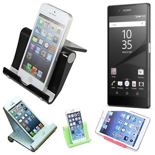 K-S-Trade Für Sony Xperia Z5 Universal Tisch Ständer Dock Schwarz Multi-Winkel Halter Dockingstation Dock Tischständer Halterung Für Sony Xperia Z5