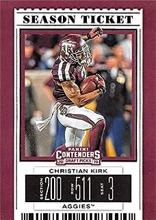 Christian Kirk football card (Texas A&M Aggies) 2019 Panini Contenders Draft Season Ticket #22