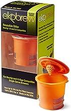 Ekobrew Classic Reusable Filter, Keurig 1.0 and 2.0 Compatible - Orange