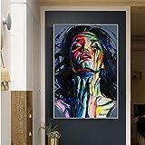 tzxdbh Wandkunst Poster Gesicht Ölgemälde Francoise Sty