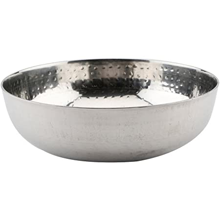 Embassy Stainless Steel Hammered Tasla/Kadhai (Without Handle), 1500 ml (Size 10)