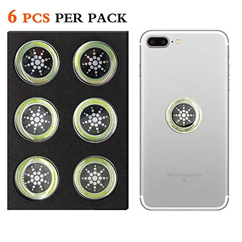 Cell Phone Radiation Protector Shield Sticker-The Best EMR/EMF Neutralizer for Cell Phone, Mobile Phone, iPhone, iPad (Silver 6pcs)