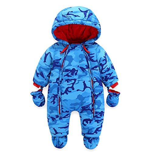 Bambino Tute da neve Neonato Hooded Pagliaccetti Body Overalls (12-18 Mesi)