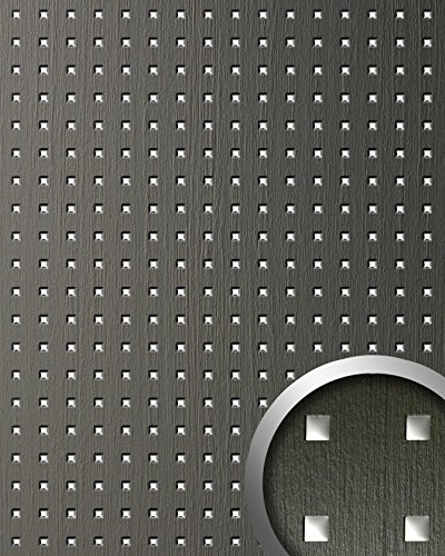 Wandpaneel plakfolie plakplastic keukenkastjes WallFace 12557 3D QUAD hout design vierkant patroon grijs 2,60 m2
