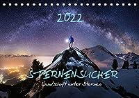 Sternensucher - Landschaft unter Sternen (Tischkalender 2022 DIN A5 quer): Sternensucher - Die schoensten Landschaften unter dem Sternenhimmel (Monatskalender, 14 Seiten )