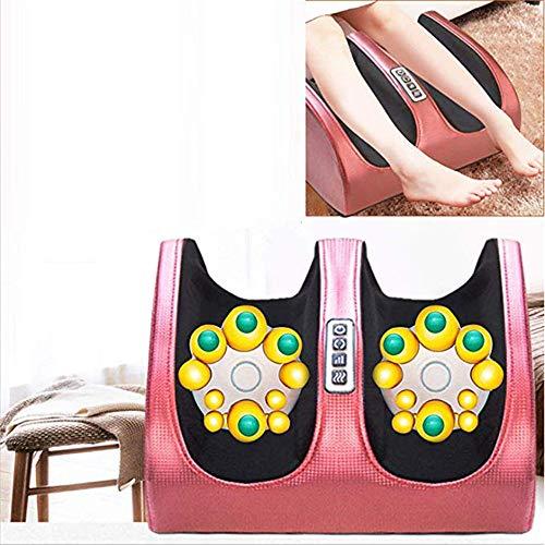 ZSH Fußpflege-Massagegerät, Fuß-Bein-Waden-Massage-Pediküre-Maschine, automatisches Akupunktur-knetendes Reflexzonenmassage-Hauptwerkzeug,Rosered