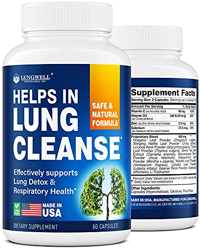 Quit Smoking Aid - Made in USA - Helps to Clear Lungs & Stop Smoking - Infused with Mullein & L-Tryptophan for Lung Cleanse & Stress Relief