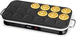 Saachi 18Pcs Mini Crepe & Pancake Maker, NL-CM-1861 (Black)