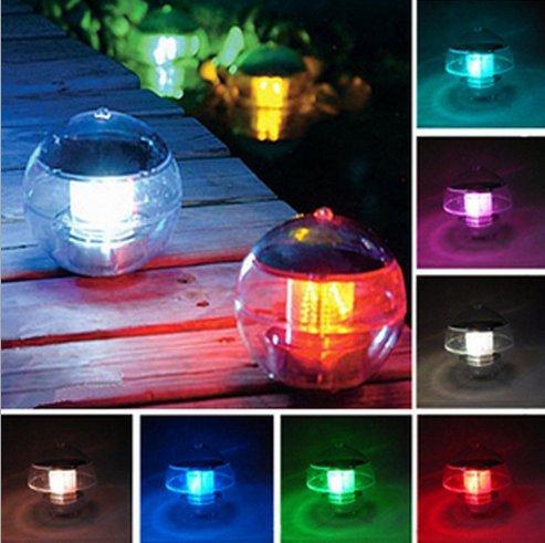 Solar Powered LED Waterproof Floating Lamp Colorful Afficher le chemin Paysage Étang Spa Hot Tub boule de lumière avec 7 couleurs Changement