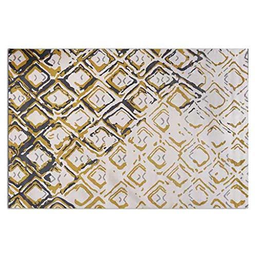 Mesa de Centro Cuadrada de Cristal de la Alfombra de la cabecera del Dormitorio de la Sala de Estar (Color : A, Tamaño : 160cm*230cm)