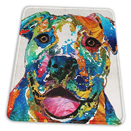 Gaming Mouse Pad - Colorful Pit Bull Rectangle Rubber Mousepad - 7.9 X 9.5 in X 0.12''(3mm Thick) Mouse Mat for Gift Support Wired Wireless Or Bluetooth Mouse
