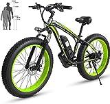 Fangfang Bicicletas Eléctricas, Mens Mejorada eléctrico Bicicleta de montaña 26 '' Bicicleta eléctrica con extraíble 36V10Ah / 48V15AH batería 27 Velocidad Shifter Montaña Ebike,Bicicleta