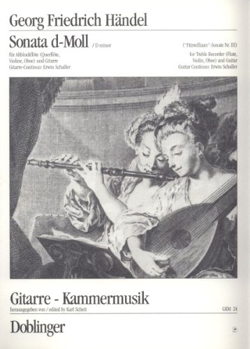 Sonate d-Moll: für Altblockflöte und Gitarre