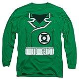 Linterna verde/Guy gardner-l/S adultos 18/1-kelly green-sm, X-Large, Verde