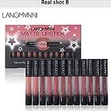 Matt Nude Lipgloss Set, Lippenstifte Matte Liquid...