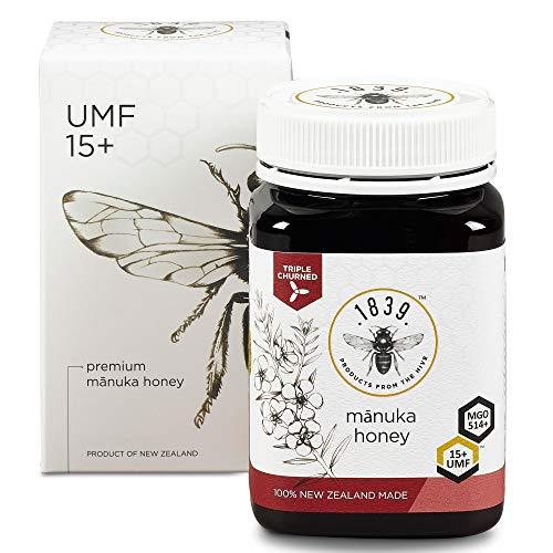 1839 Honig UMF 15+ Premium Manuka-Honig (MGo 514+), 250g (8.8 oz)