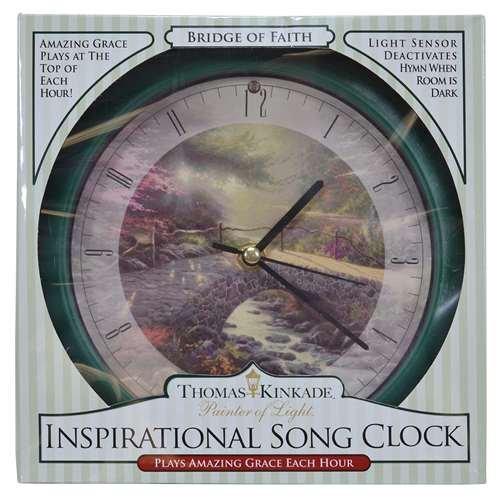 Mark Feldstein Bridge of Faith Kinkade 8 inch Clock