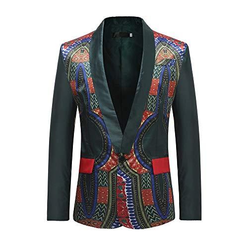 Sale! Teresamoon New African Men's Fashion Dashiki Cardigan Jacket Long Sleeve Printed Coat