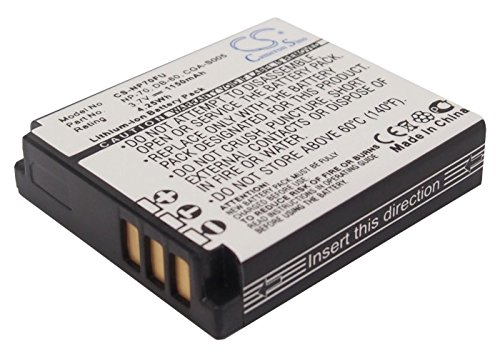 1150mAh Battery Replacement for Panasonic Lumix DMC- FX07EF-S CGA-S005E CGA-S005A CGA-S005A/1B CGA-S005E/1B CGA-S005 DMW-BCC12 3.7V
