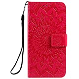 Jeewi Hülle für Vivo V11/V11 Pro/V11i/Y97 Hülle Handyhülle [Standfunktion] [Kartenfach] [Magnetverschluss] Tasche Etui Schutzhülle lederhülle flip case für Vivo V11 Pro - JEKT032687 Rot