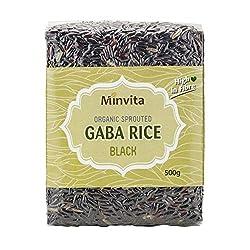 6 x Minvita Rice Germé Organic Gaba Black 500G 6 x Minvita Organic Sprouted Black GABA Rice 500g 500g (x6) Minvita