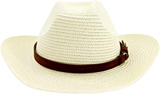 LiJuan Shen Fashion Wome Men Beach Hat Western Cowboy Hat Hat Hat Beach Hat Outdoor Seaside Sunscreen Leather Belt Decoration Gentleman Hat