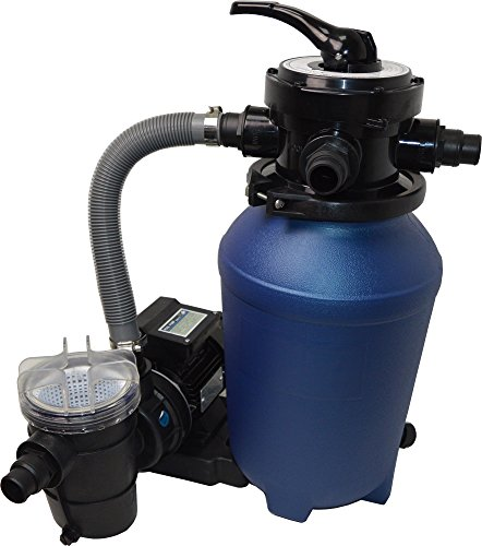 SPIRATO Splash 250 Filtro de Arena con Bomba, Azul y Negro