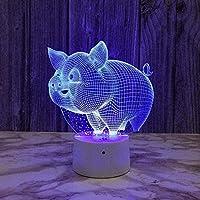 giyiohok3DナイトライトSUV7色変更LEDタッチUSBテーブルギフト子供のおもちゃの装飾装飾クリスマスバレンタインデーギフト誕生日プレゼント-Gs558-N7-N21