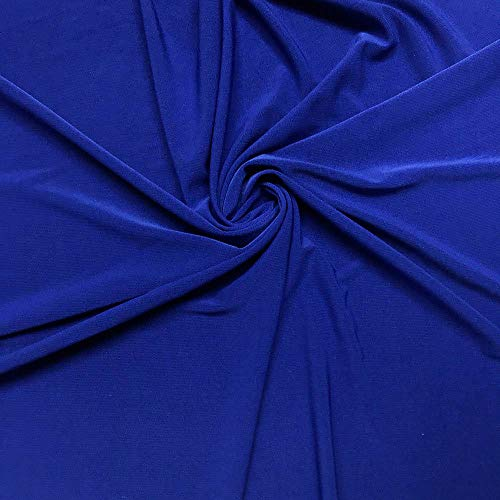 ITY Fabric | 5 Yard Continuous | Jersey Spandex Knit | 2-Way Stretch | 60' Wide (Royal Blue, 5 Yards)