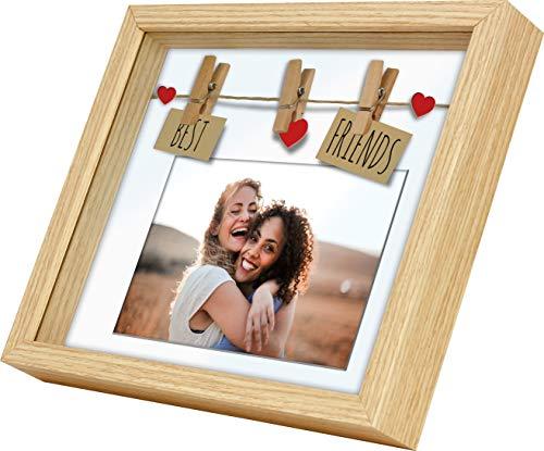 WPM Cornice in legno, Happy Family/Best Friends, con passepartout