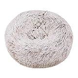 BVAGSS Cama de Gato Extra Suave Cómodo Lindo Lavable de la Cama Sleeping Sofa para Mascotas Deluxe para Gatos y Perros XH062 (Diameter:60cm, Gradient Khaki)
