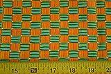 Veedaf Fabric by 1/2 Yd, Greens & Oranges Quilting CottonHoe Hoe Hoe/Kari Pearson/Moda