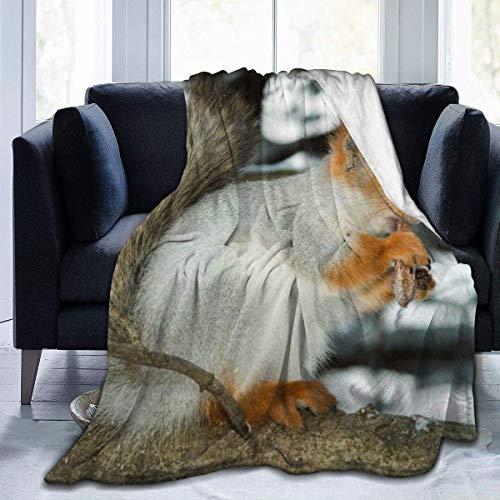 Lawenp Manta de Tiro Animal Squirrel Ultra Suave Manta de Mi