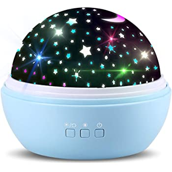 Sternenprojektor 360 Rotierenden Projektionslampe Sternenlicht Sternenhimmel Lichtprojektion Nachtlicht Projektor Colors Changing Night Light für Baby