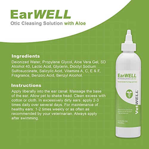 VetWELL Ear Cleaner for Dogs and Cats