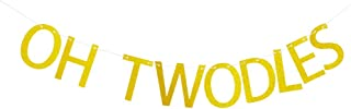 Oh Twodles Banner for Baby 's Second Birthday Party Decorations, 2nd Birthday Party Supplies