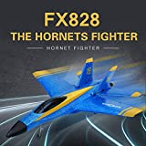 Toys Hobbies Flybear FX828 Hornet Fighter 290mm Wingspan 2.4GHz 2CH EPP RC Airplane Warbird RTF - (Mode: Two Batteries)