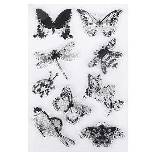 ShenTan Schmetterling Libelle Käfer Silikon transparente Dichtung