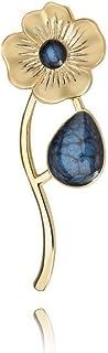 Broche Azul en Forma de flor para Mujer en Bolsa de Regalo