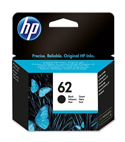HP C2P04AE 62 Cartucho de Tinta Original, 1 unidad, negro