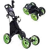 Best Golf Push Carts - Kingdely 4 Wheel Golf Push Cart, Foldable Golf Review