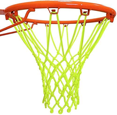 Cisixin Rete per Canestro da Basket in Nylon Verde Fluorescente Nets per Indoor & All'aperto Gli Sport