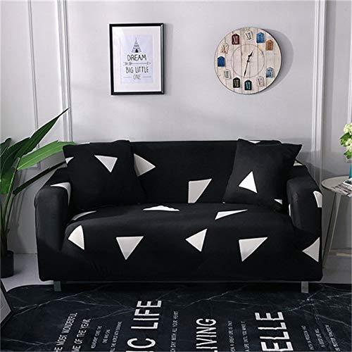 PPMP Cubierta de sofá geométrica elástica Moderna para Sala de Estar Cubierta de sofá elástica para Sala de Estar Funda de sofá Inferior para sofá A7 1 Plaza