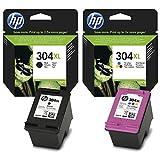 Bipack cartuchos HP originales 304XL 1x negro N9K08AE + 1x color N9K07AE de alta capacidad