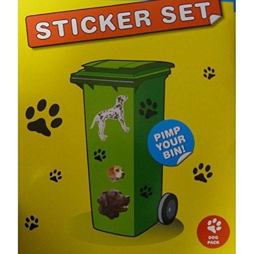 120 Pièces Poubelle à roulettes Stickers – Chiens